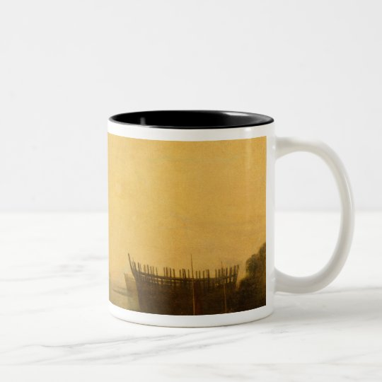 Teignmouth Harbour, c.1812 Two-Tone Coffee Mug