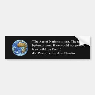 Teilhard de Chardin Bumper Sticker