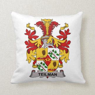 Teilman Family Crest Throw Pillows