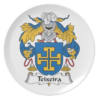 Teixeira Family Crest Plate