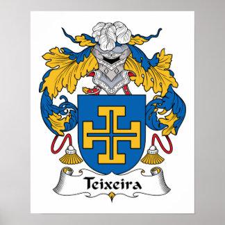 Teixeira Family Crest Poster