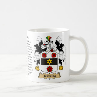 Teixeira, the Origin, the Meaning and the Crest Coffee Mug
