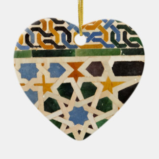 Teja #3 de la pared de Alhambra Adorno Navideño De Cerámica En Forma De Corazón