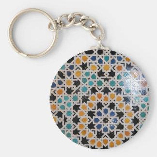 Teja #9 de la pared de Alhambra Llavero Redondo Tipo Pin