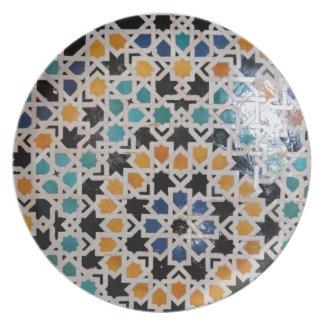 Teja #9 de la pared de Alhambra Platos Para Fiestas