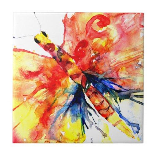 Teja abstracta de la mariposa de la acuarela
