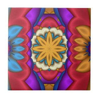 Teja abstracta floral mexicana