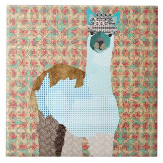 Teja adorable del arte de la alpaca