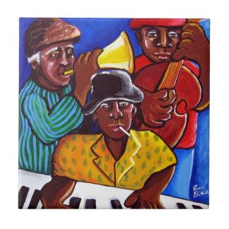 Teja afroamericana del arte popular del trío del j