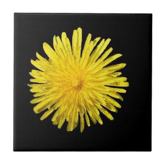Teja amarilla imponente de la flor