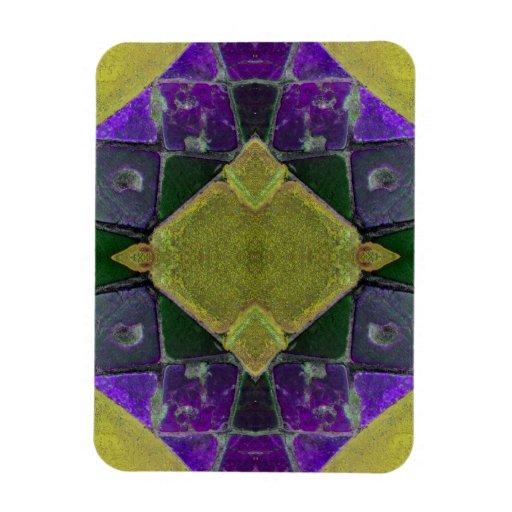 teja amarilla púrpura iman de vinilo