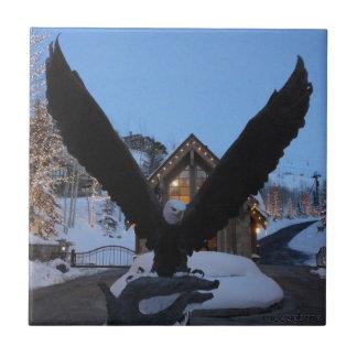 Teja americana de la estatua del águila calva