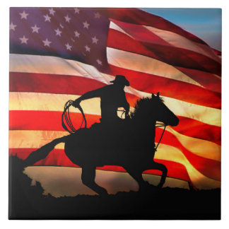 Teja americana del arte del vaquero