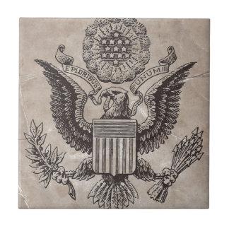 Teja americana pasada de moda del escudo de armas