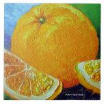 Teja anaranjada de la fruta