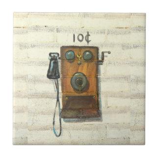 teja antigua del teléfono de pago de la pared