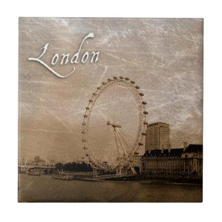 Teja Antiqued del arte del ojo de Londres