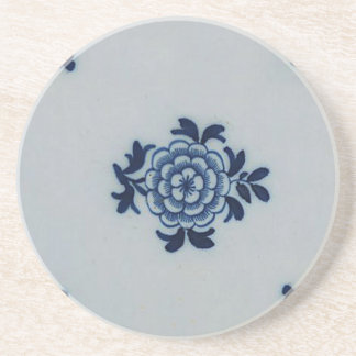 Teja azul anticuaria clásica de Delft - adorno Posavasos Personalizados