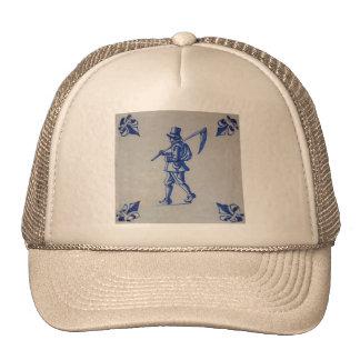Teja azul de Delft - guadaña u hoz que lleva del c Gorras De Camionero