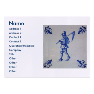 Teja azul de Delft - guadaña u hoz que lleva del Tarjetas De Visita Grandes
