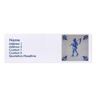 Teja azul de Delft - guadaña u hoz que lleva del Tarjetas De Visita Mini