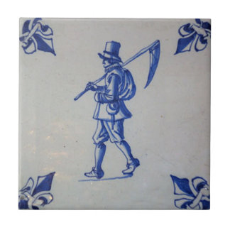 Teja azul de Delft - plantilla