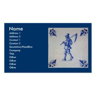 Teja azul de Delft - plantilla Tarjetas De Visita