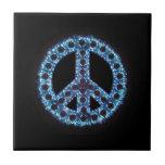 Teja azul de la paz