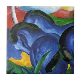 Teja azul de los caballos de Franz Marc
