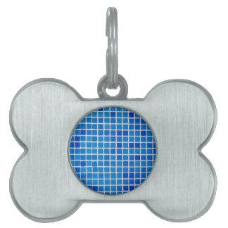 teja azul del cuarto de baño placas de nombre de mascota