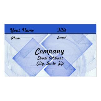 Teja azul escarpada tarjetas de visita
