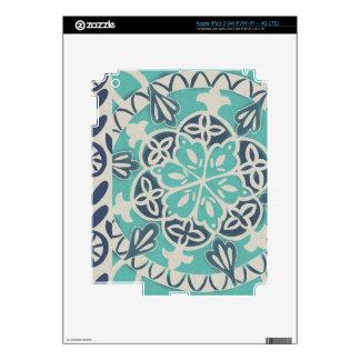 Teja azul I del batik iPad 3 Skins
