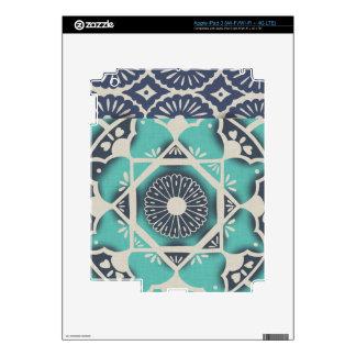 Teja azul II del batik Pegatina Skin Para iPad 3