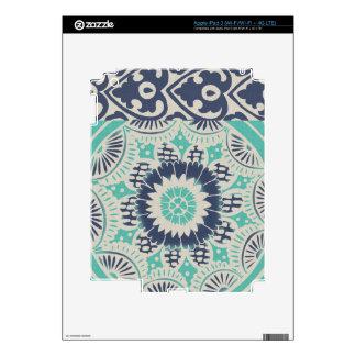 Teja azul III del batik Pegatinas Skins Para iPad 3
