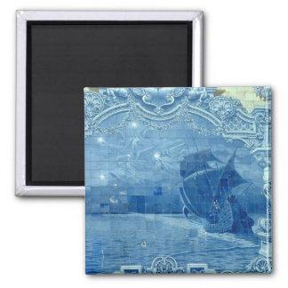 Teja azul iman de nevera