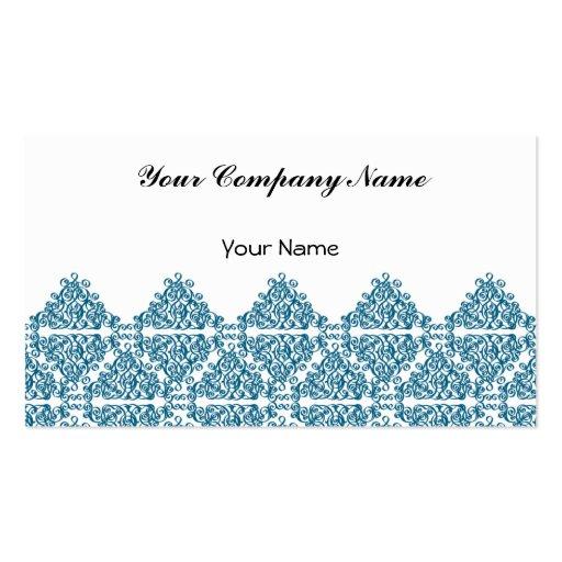 Teja azul marroquí del triángulo tarjeta de visita