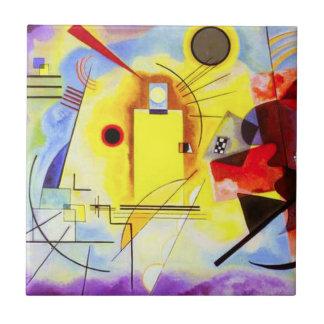 Teja azul roja amarilla de Kandinsky