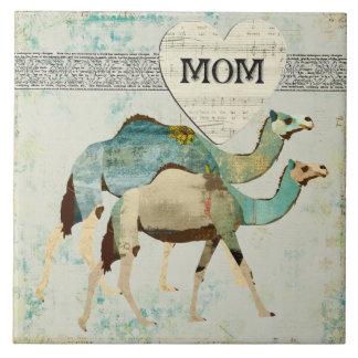 Teja azul soñadora de la mamá de los camellos