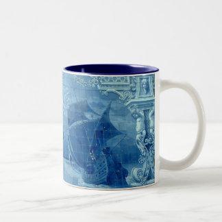 Teja azul tazas