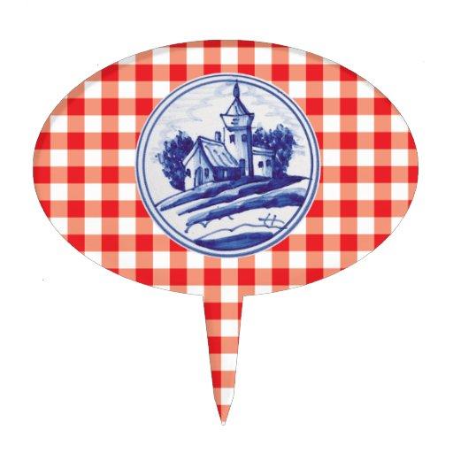 Teja azul tradicional holandesa decoraciones para tartas
