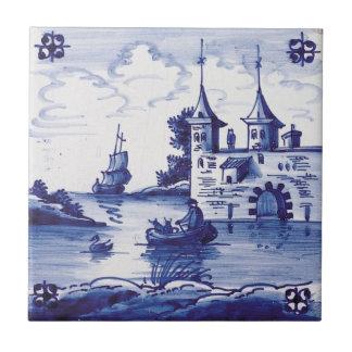 Teja azul tradicional holandesa