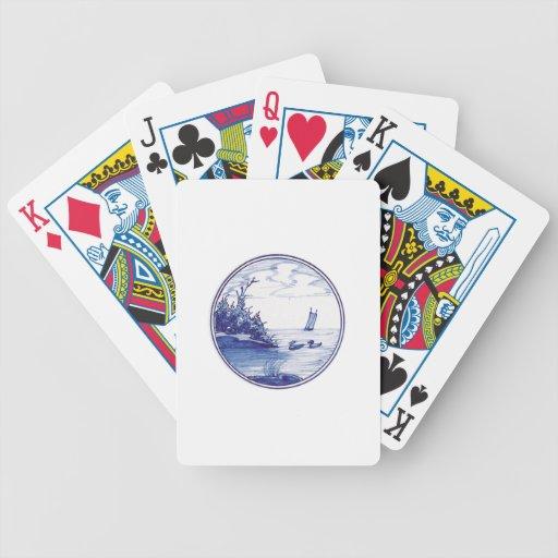 Teja azul tradicional holandesa baraja de cartas