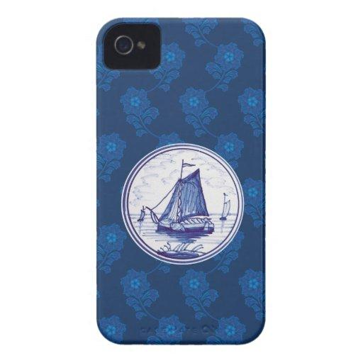 Teja azul tradicional holandesa carcasa para iPhone 4 de Case-Mate