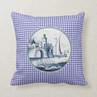 Teja azul tradicional holandesa cojines