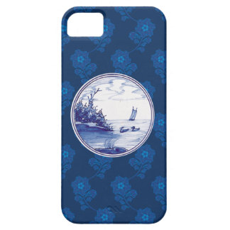 Teja azul tradicional holandesa iPhone 5 funda