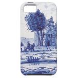 Teja azul tradicional holandesa iPhone 5 Case-Mate fundas