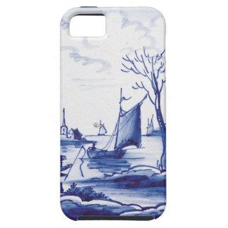 Teja azul tradicional holandesa iPhone 5 cobertura