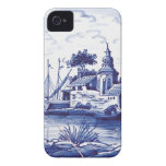 Teja azul tradicional holandesa Case-Mate iPhone 4 coberturas