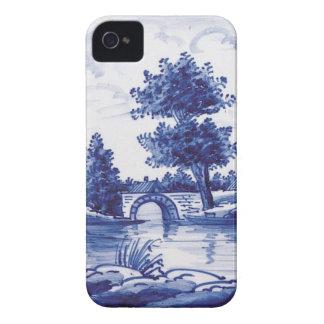 Teja azul tradicional holandesa iPhone 4 Case-Mate carcasa