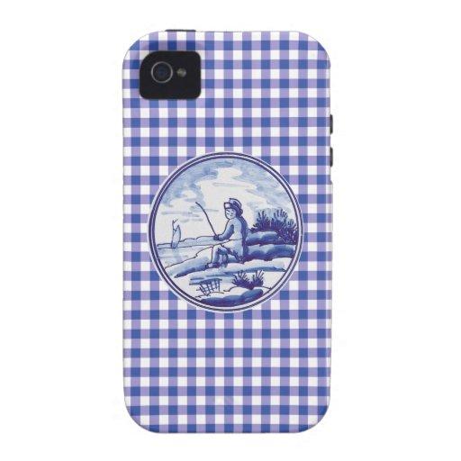 Teja azul tradicional holandesa Case-Mate iPhone 4 carcasa